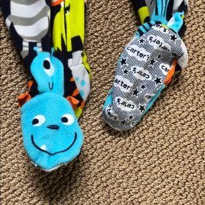 Carter's Pajamas - Carter's 3T Monster footed zipper sleeper EUC